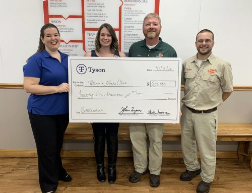 BGC receives $25,000 grant from Tyson Foundation