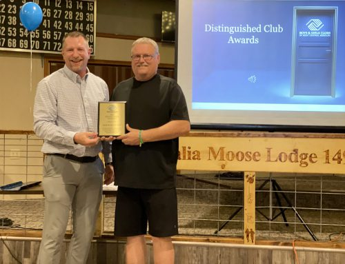 Heber Hunt named Distinguished Club Gold Award winner